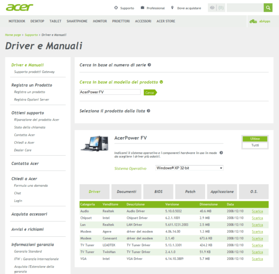 AcerPowerFV_DriverPage