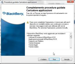 BlackBerry OS 6: conferma della scelta