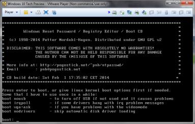 Chntpw: cambiare password all'amministratore di Windows 1