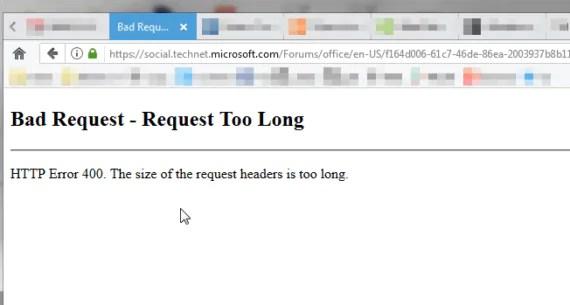 Firefox: risolvere il problema del Bad Request - Request Too Long