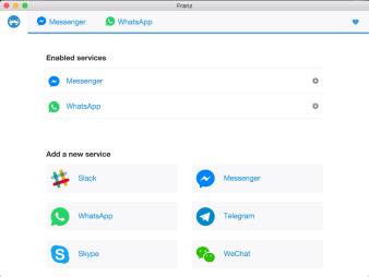Franz: un'app per Facebook, Whatsapp, Telegram, ecc. 2
