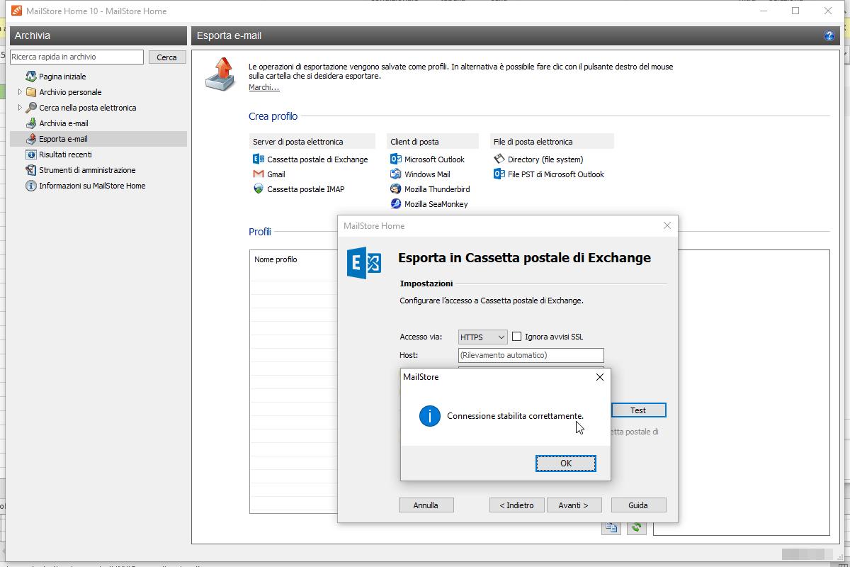 Migrare la posta dal tuo client Home a Office 365 (Exchange Online) 5