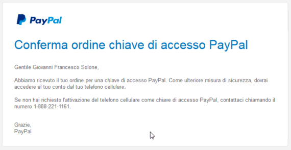 Sicurezza: la 2-step verification di PayPal 2