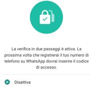 Sicurezza: la 2-step verification di WhatsApp 8