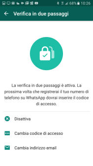 Sicurezza: la 2-step verification di WhatsApp 8
