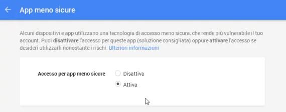 SMTP di GMail: l'utilizzo tramite app