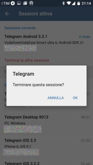 Telegram: 2-step verification e opzioni di sicurezza 6