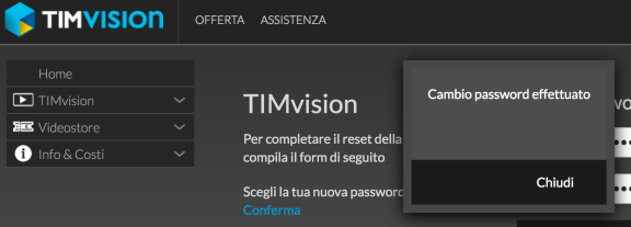 "TIMvision e i reset password ""a vuoto"""