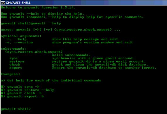 Un backup in locale di GMail con Gmvault