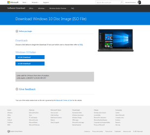 Windows 10: preparare una chiave avviabile (no-Media Tool Microsoft) 1