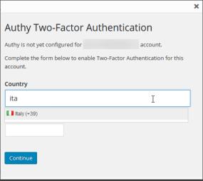 WordPress e Authy: autenticazione OneTouch 1