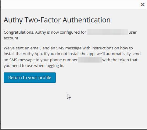 WordPress e Authy: autenticazione OneTouch 2
