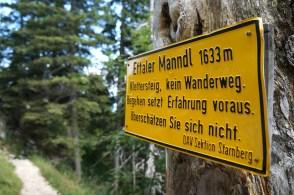Das Schild sollte man ernst nehmen © Gipfelfieber.com