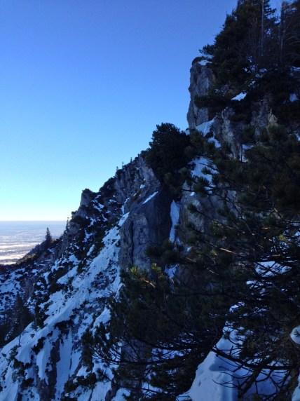 Die steilen Nord-Westabbrüche des Jochbergs © Gipfelfieber.com