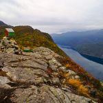 Der Ausstieg des Steigs mit Blick auf den Åkrafjord © Gipfelfieber.com