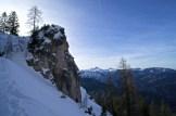 Aufstieg zum Schrecksattel; im Hintergrund das Sonntagshorn © Gipfelfieber.com