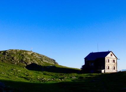 Die Hugo-Gerbers-Hütte im Abendlicht © Gipfelfieber.com