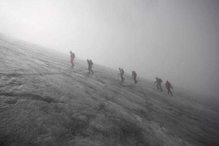 Von einem, der loszog, in eine Gletscherspalte zu stürzen