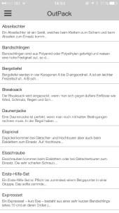 Screenshot OutPack Lexikon ©Gipfelfieber