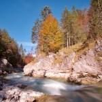 Rißbach eingebettet in Herbstfarben ©Gipfelfieber