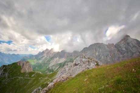 September: Wolken über dem Wetterstein ©Gipfelfieber