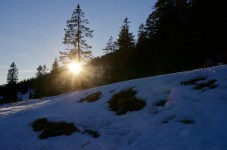 Die Sonne geht früh unter ©Gipfelfieber