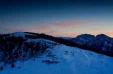 Der Himmel über Roßkopf und Schinder leuchtet ©Gipfelfieber