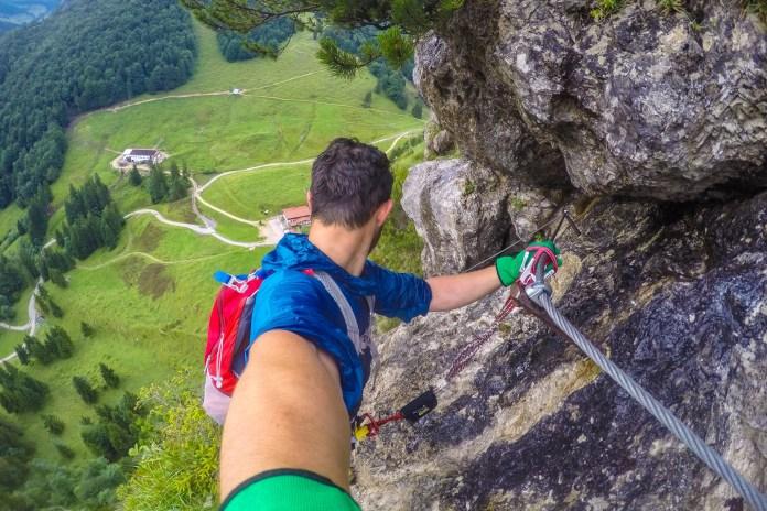 Harauer Spitze: Der Direttissima Klettersteig für Hartgesottene