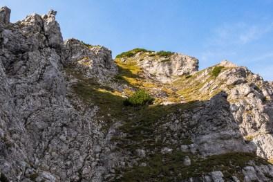 Schrofige und steile Rinne ©Gipfelfieber