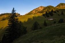Wildenkaralm und Krenspitze im ersten Morgenlicht ©Gipfelfieber