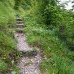 Der Steig hinter der Hütte ©Gipfelfieber
