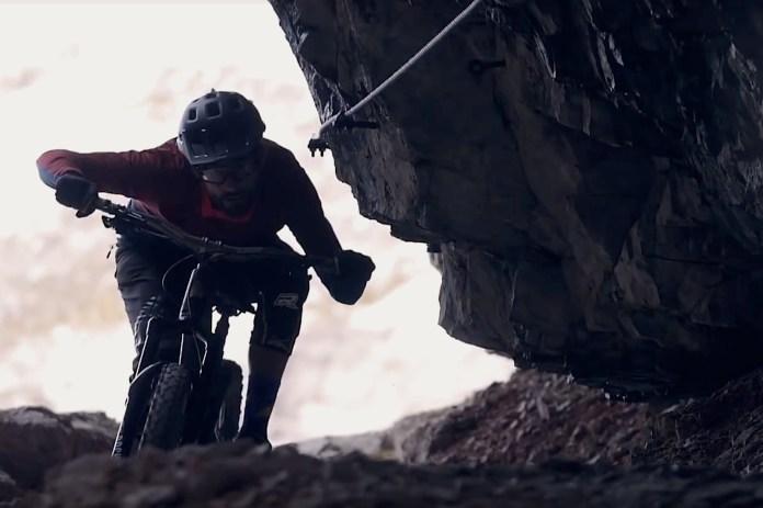 Outdoor-Film der Woche KW 50/18: Via Ferrata on a Mountain Bike ©Screenshot Film/Pierre Henni, Kilian Bron