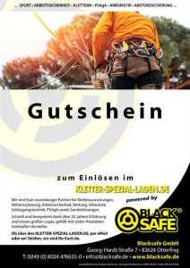 Blacksafe Kletter-Laden-Spezial Gutschein © Blacksafe