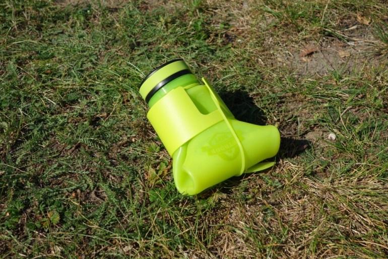 Aufgerollte Outdoor Dept. Faltbare Trinkflasche