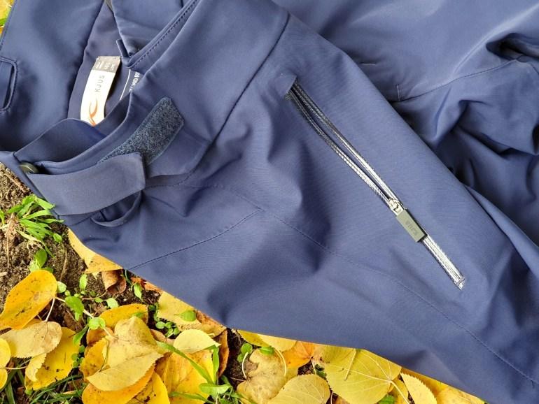 Wasserdichte Sesitentaschen und Klettverschluss der Kjus Formula Pants