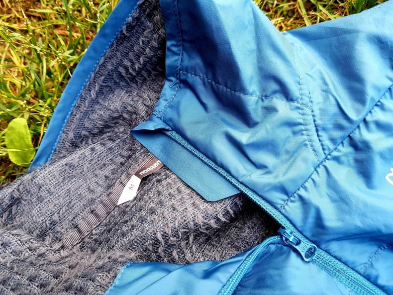 Norröna falketind Alpha60 Jacke Futter und Kinnschutz