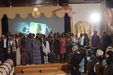 The cast begins to line up during the address made by Co-producer Travon Patton