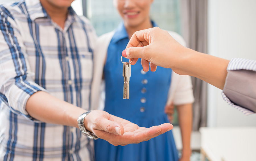 Given keys to new home
