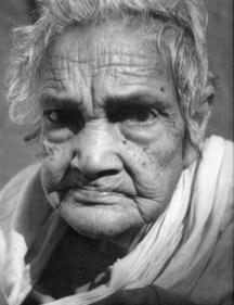 Portrait of a nonagenarian woman