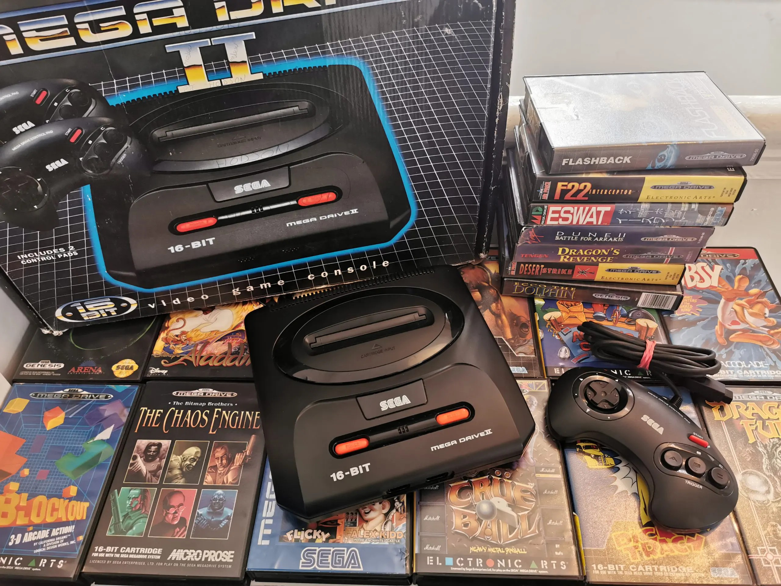 best game consoles ever - sega mega drive 2