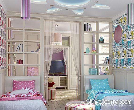 Дизайн детских комнат для разнополых детей (43 фото)