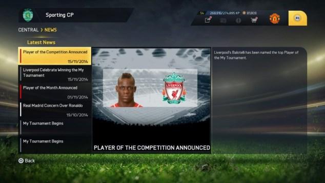 FIFA 15 a Tournament (In Menus)