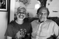 With Raghu Rai at his Mahrauli office, New Delhi. Photo Credit: John Mathew