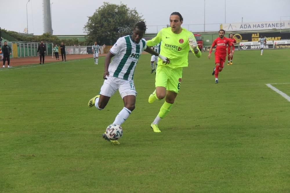 TFF 1. Lig: Giresunspor: 0 – Ümraniyespor: 1 (İlk yarı sonucu)