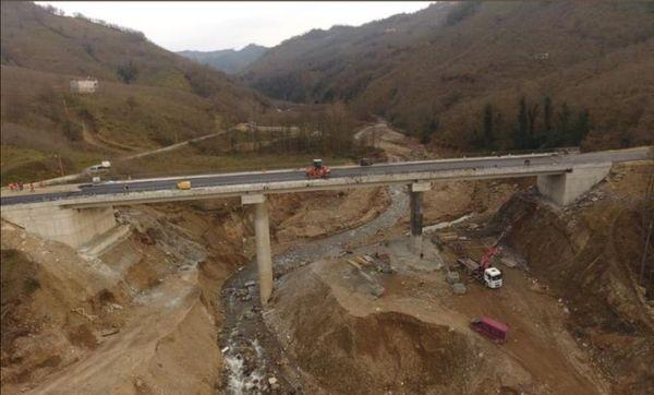 Giresun'da 5 askerin şehit olduğu menfezin yerine yapılan köprü hizmete açılıyor
