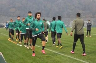 Giresunspor, Çotanak Spor Kompleksi'nde ilk antrenmanını yaptı