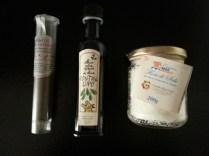 blend di pepe dello chef Apreda, olio Fontana Lupo, sale Fior di sale