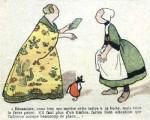 Bécassine, uma das precursoras das HQs modernas, era uma historinha narrada abaixo de desenhos ilustrativos.
