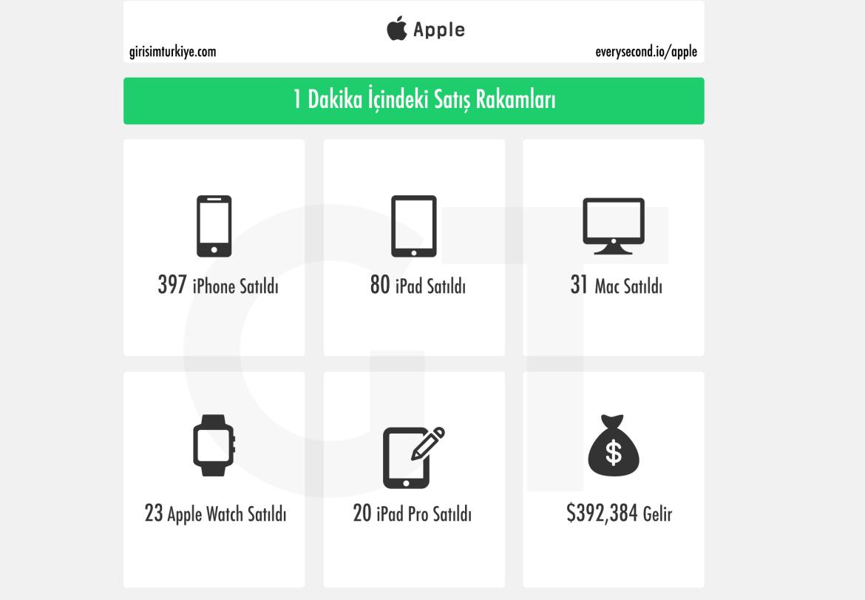apple satış rakamları