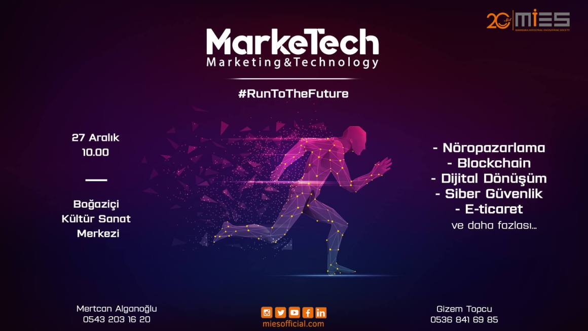 MarkeTech 27 Aralık'ta Boğaziçi Kültür Sanat Merkezi'nde!